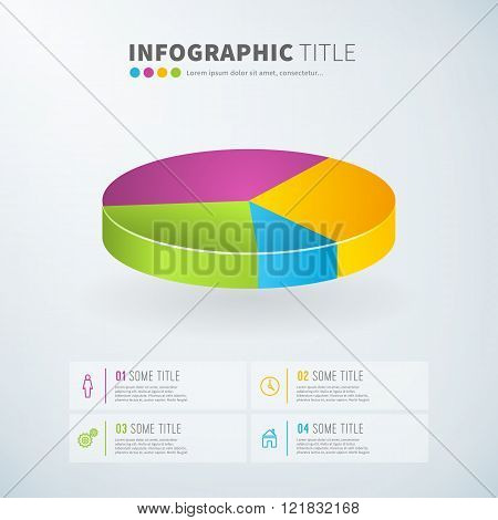 Business Infographic Pie Chart Statistics With Icons