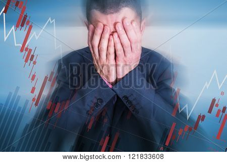 Broken Depressed Businessman