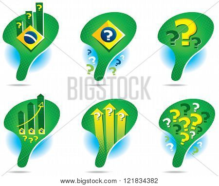 Icons of the map of Brazil