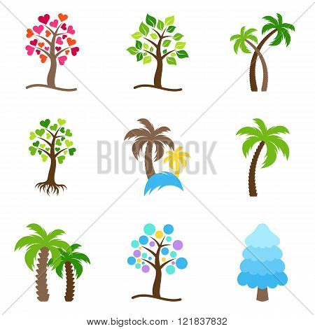 Vector Tree Icons Collection