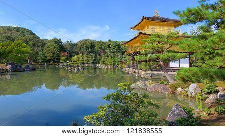 Kinkakuji Temple At Autumn