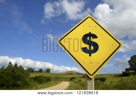 Healthy Road To Make Money Concept Icon Sign
