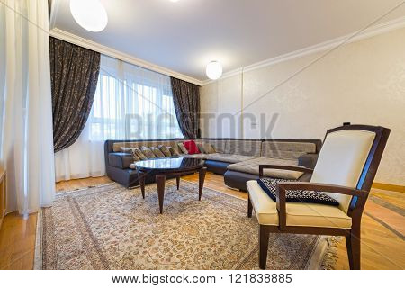Modern Spacious Living Room Interior