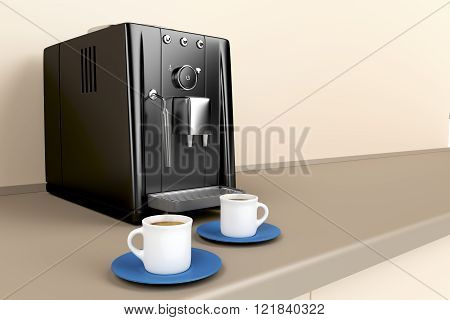Espresso Machine In The Kitchen