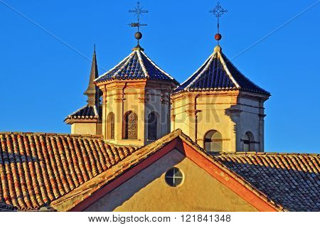 Towers in Mudejar architectural style Cuenca Spain
