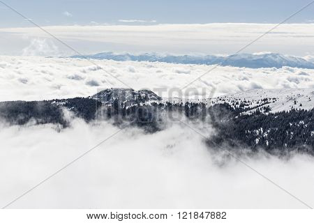 Vitosha Mountain In Snow And Mist