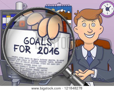 Goals for 2016 through Magnifier. Doodle Design.