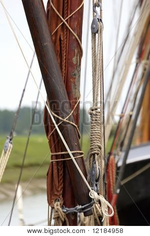 detail from thames sailing barge poster