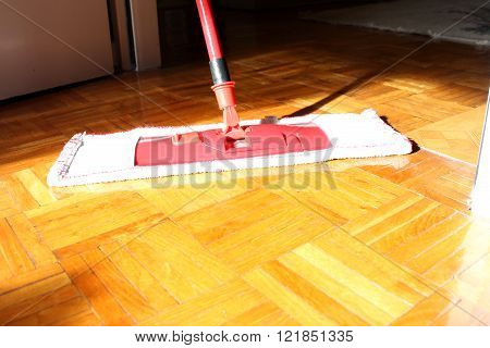 Floor Cleaning In The House