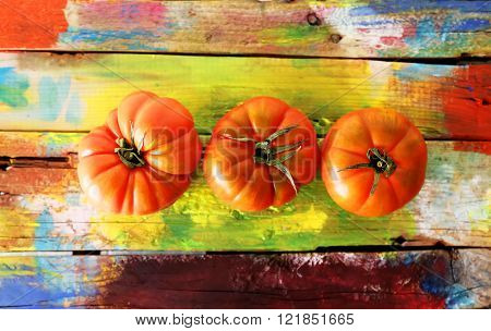 Three Tomatoes Photo