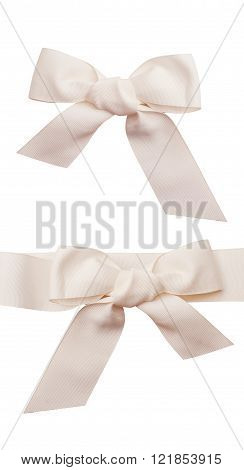 Decorational two bow isolated over white background