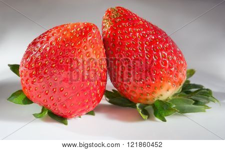 Two Berries Of Strawberry