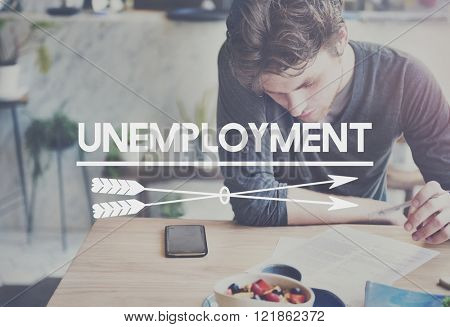 Unemployment Turnover Lay off Sacked Word Concept