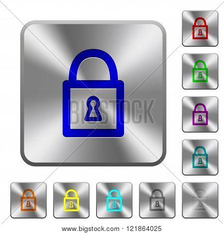 Steel Locked Padlock Buttons