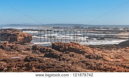 Seascape of Atlantic Ocean. Morocco, Casablanca