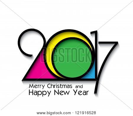 2017 new year creative design on white background for your greetings card flyers invitation posters brochure banners calendar