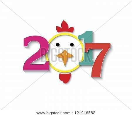 2017 figures with the rooster design on white background