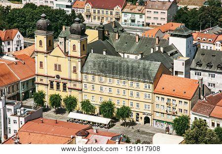 Piarist church of saint Francis Xaversky, Trencin, Slovak republic. Architectural theme.