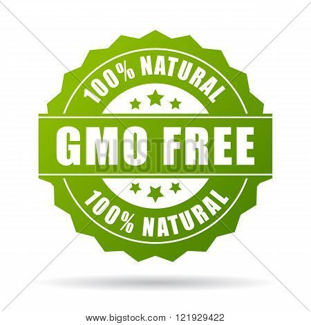 Gmo free natural product icon isolated on white background
