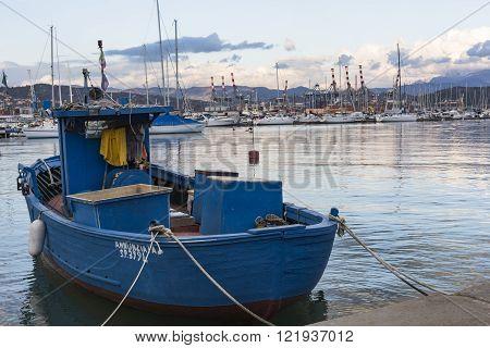 La Spezia, Italy - March 09, 2016: Yachts In The Port Of La Spezia, Italy