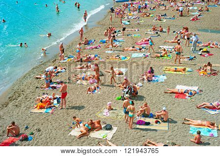Crowded Sea Beach, Crimea