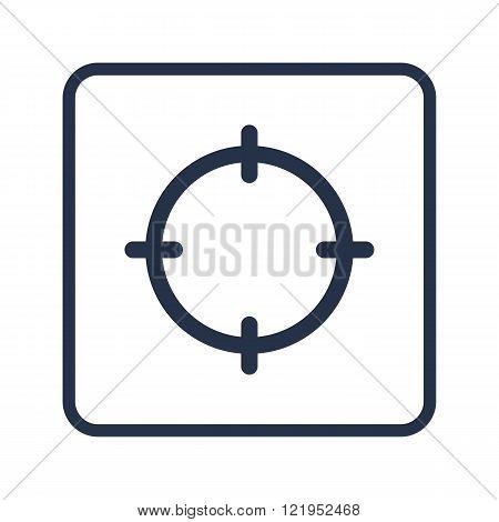 Aim Icon, On White Vector & Photo (Free Trial) | Bigstock
