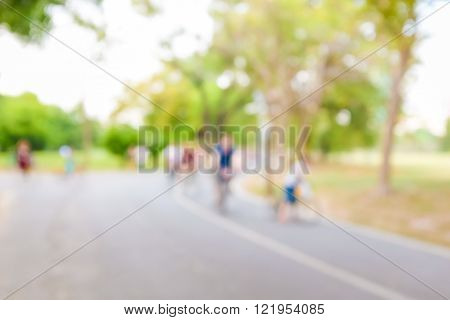 Abstract Blurred Bicycle Rider
