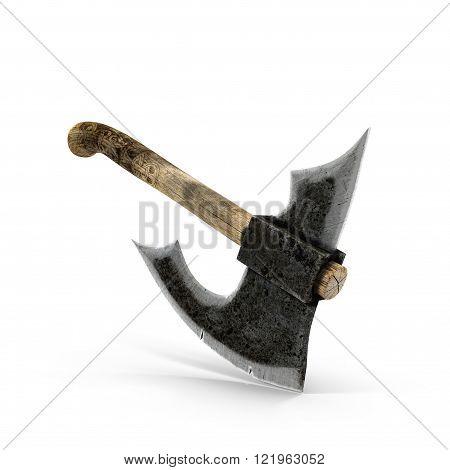 Old Battle axe on white