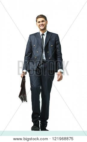 businessman standing on vertex