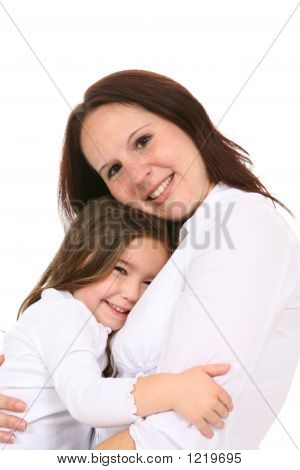Tender Moment Between Mother And Daughter