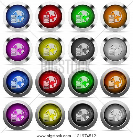 Set of web hosting glossy web buttons. Arranged layer structure.