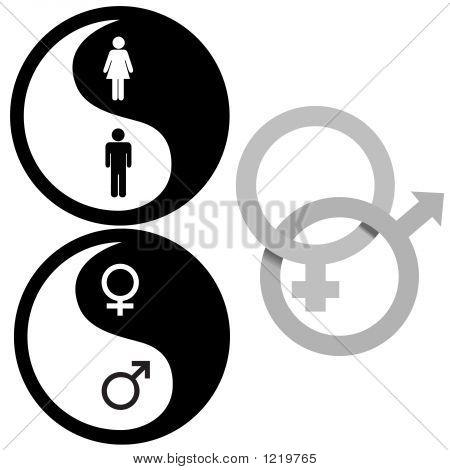 Yin Yang Male Female Symbols