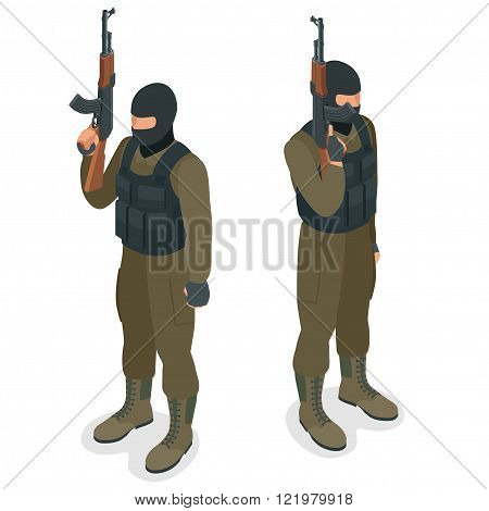 Spec ops police officers SWAT in black uniform. Soldier, officer, sniper, special operation unit, SW