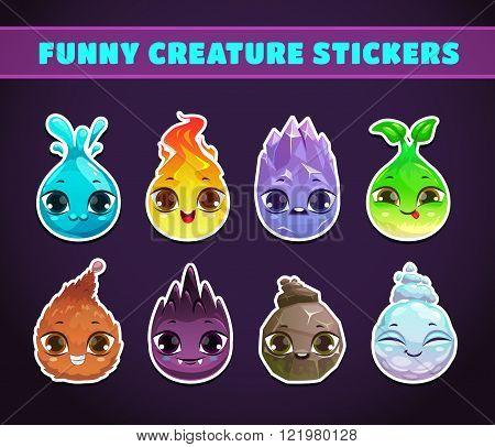 Cute cartoon fairy baby characters