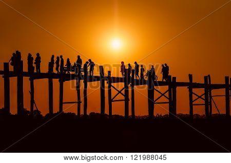 U bein bridge. Mandalay. Myanmar ( Burma )
