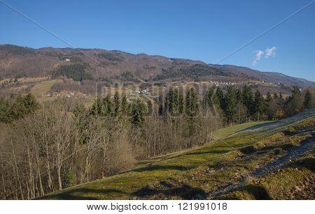 Tuhinj valley near Kamnik town in Slovenia