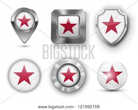 USA State Flag Badges