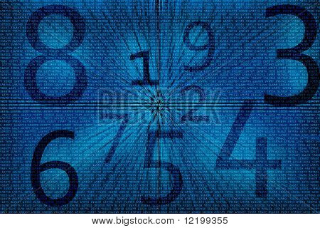 Abstract numbers background