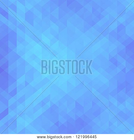 Beautiful blue background with triangle. Geometric design for business, science, medicine and technology presentations. Vector illustration.