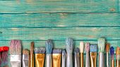 Retro paintbrush retro paintings artistic artist paintbrush art poster