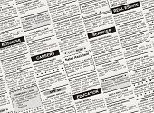 Classified Ad, fake newspaper for background use poster