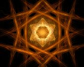fractal abstract - star (hexagon) (background texture wallpaper) poster