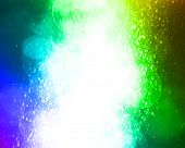 glitter and sparkle on a rainbow background poster