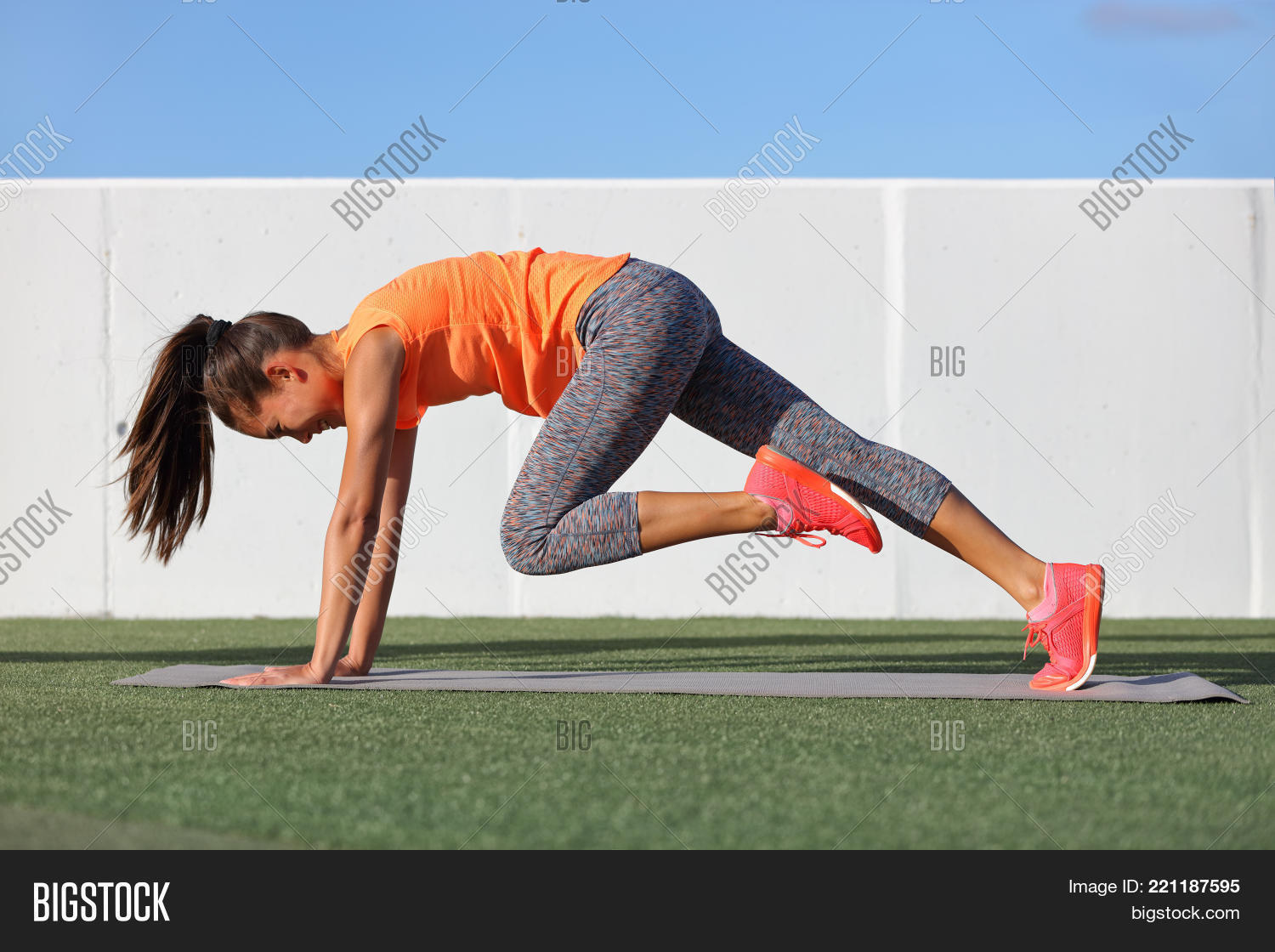 Fitness Girl Doing Abs Image Photo Free Trial Bigstock