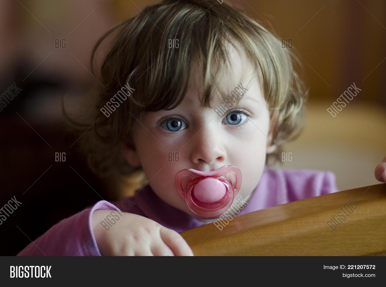 cute baby girl blue image & photo (free trial) | bigstock