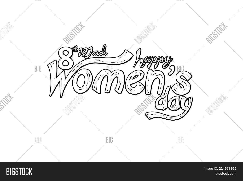 Womens Day Greeting Image Photo Free Trial Bigstock