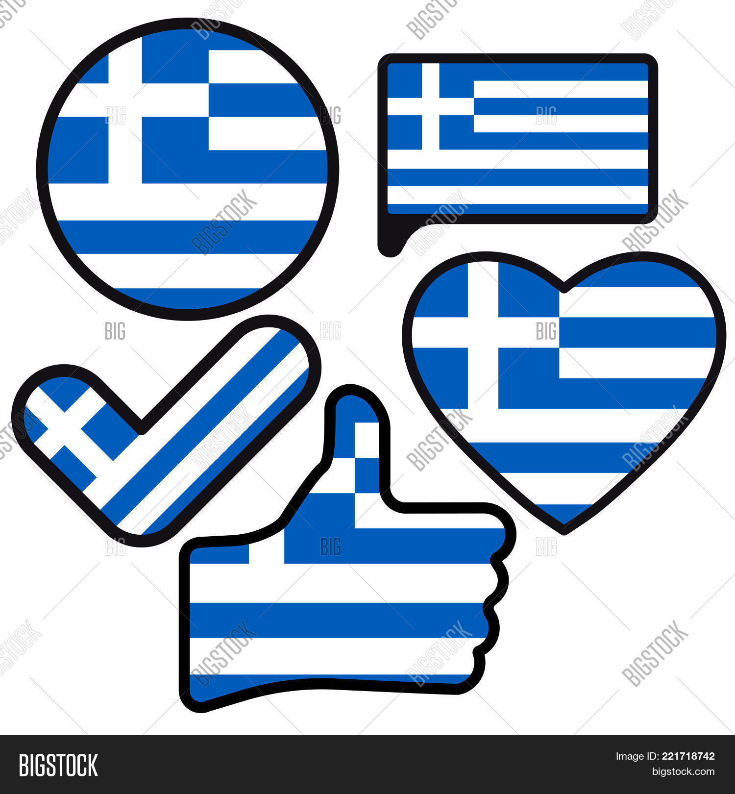 Flag Greece Shape Image Photo Free Trial Bigstock