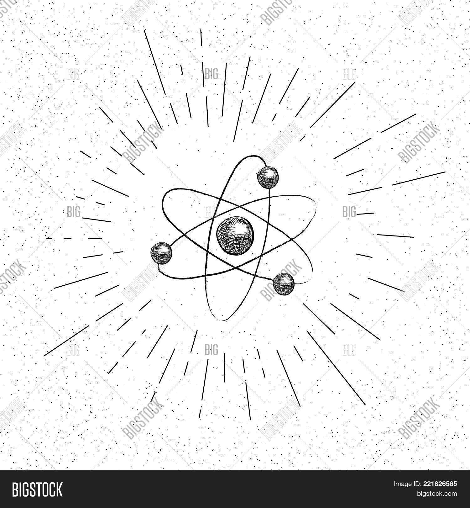 Hand drawn symbol nuclear model vector photo bigstock hand drawn symbol of nuclear model of atom structure doodle vector hatch icon ccuart Image collections