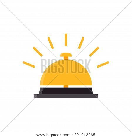 Hotel Bell, Service Bell, Reception bell icon. Vector illustration on white background