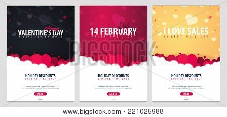 Valentines Day Sale Background. Wallpaper, Flyers, Invitation, Posters, Brochure, Voucher, Banners.